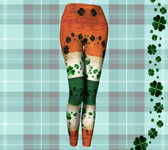 world pride patricks leggings for leggings yoga clover women irish