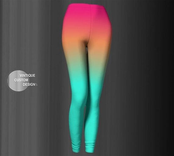 OMBRE LEGGINGS - Womens Yoga Leggings / Yoga Pants - Festival Leggings - Rave Clothing - Fall Leggings - Women's Leggings - Workout Pants