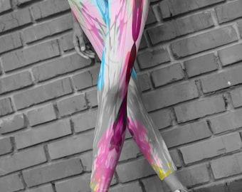 PASTEL LEGGINGS Womens Yoga Leggings Yoga Pants New Retro 80's Clothing Vaporwave Aesthetic Fairy Kei Leggings for Women Festival Clothing