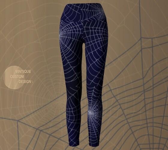HALLOWEEN LEGGINGS Spiderweb Yoga Pants WOMENS Halloween