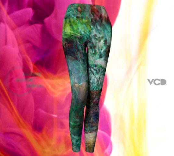 LEGGINGS Womens YOGA PANTS - Tribal Leggings - Sexy Print Leggings - Art Leggings - Painted Leggings - Hippie Clothing - Coachella Leggings