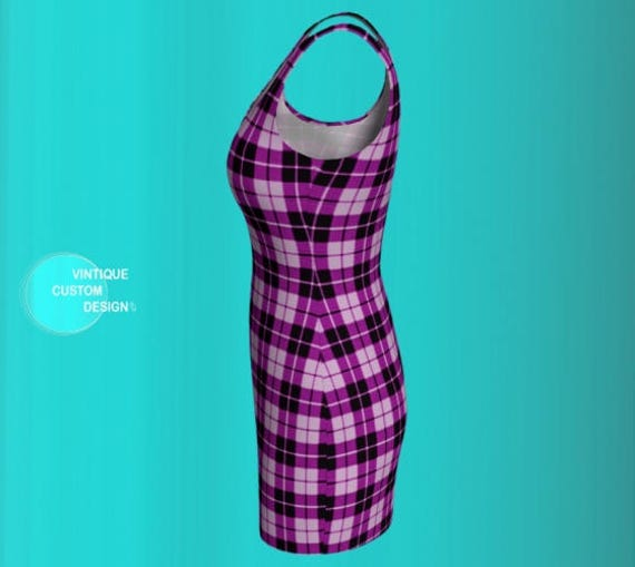 Tartan Dresses Clothing Dress Designer for Dress Mini Sexy Plaid Sexy Purple Mini WOMEN Mini Dress DRESS Dress Womens Bodycon Plaid PLAID twYqTqH