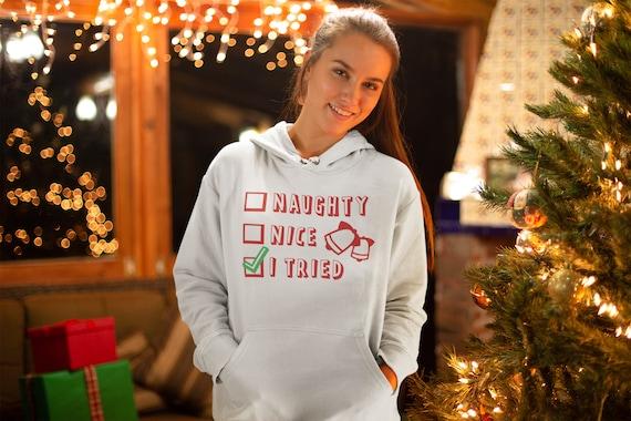 CHRISTMAS HOODIE UNISEX Hoodie for Men or Women Hooded Sweatshirt Get Lit Christmas Light Christmas Sweater Funny Christmas Gift for Him