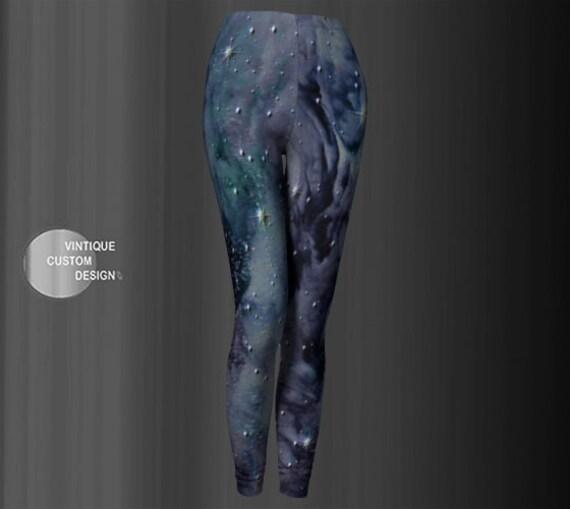 Cosmic Celestial GALAXY LEGGINGS Fantasy Cosplay Yoga Leggings Yoga Pants Womens Printed Art Leggings Fashion Leggings Work Out Leggings