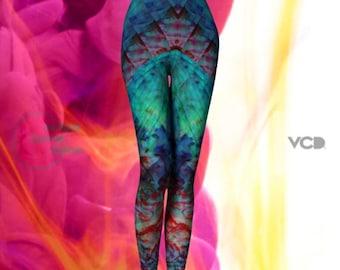 WOMENS RAVE LEGGINGS Sexy Print Leggings Yoga Leggings Sexy Burning Man Womens Leggings Yoga Pants Hippie Yoga Leggings Tribal Tights Women