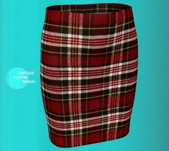 TARTAN PLAID SKIRT for Women Designer Skirt Womens Clothing Mini Skirt Plaid Skirt Sexy Mini Skirt Sexy Printed Skirts Flare or Fitted Skirt