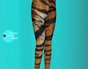 TIGER LEGGINGS for Girls and Boys Leggings Tiger Print Leggings Mommy and Me Outfit Girls Leggings Baby Leggings Toddler Matching Leggings