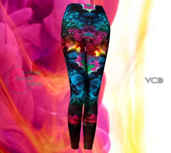 Festival Leggings Rave Leggings Burning Man Clothing Womens Festival Leggings Yoga Pants Yoga Leggings SEXY PRINT LEGGINGS Festival Outfit