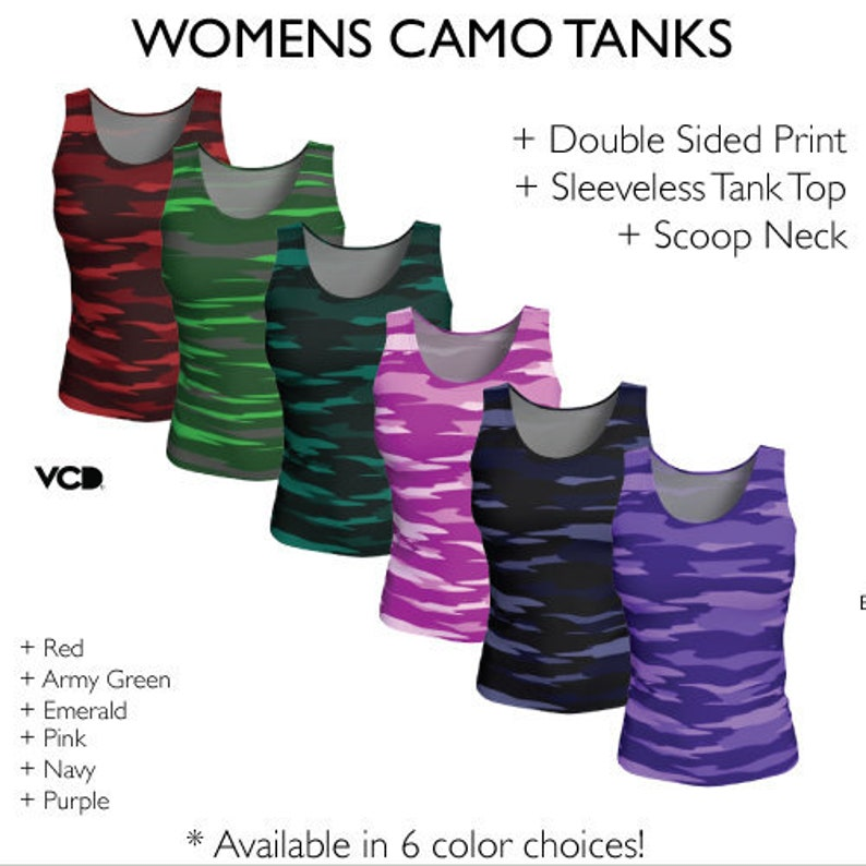 49438f6d90af4d CAMOUFLAGE TANK TOP Womens Camouflage Tank Tops Work Out Top