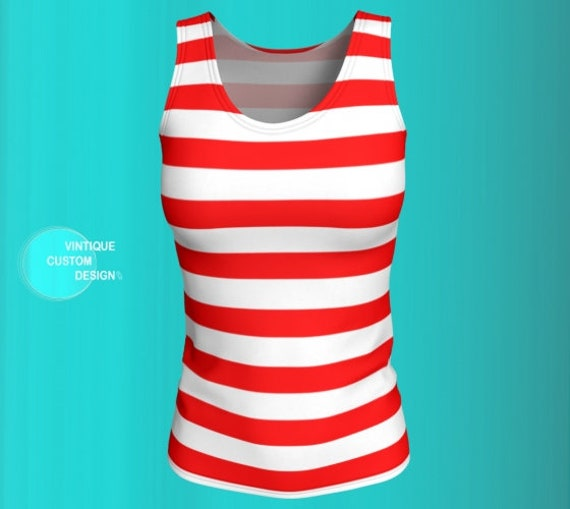 Valentine's Day TANK TOP Candy Cane Top Women's Tank Top Red and White Striped Tank Top Workout Top Valentines Day Outfit Gift for Her