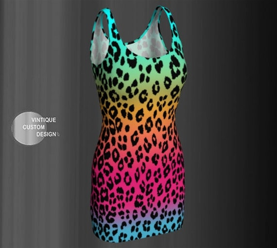 PARTY DRESS WOMENS Rave Clothing Cheetah Festival Dress Dance Dress Club Dress Festival Clothing Sexy Mini Dress Womens Animal Print Dress