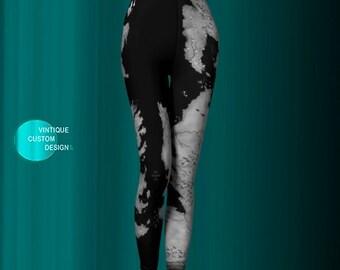 Westeros and Essos MAP LEGGINGS Game of Thrones Map Printed Yoga Leggings WOMENS Yoga Pants Black and Grey Art Leggings