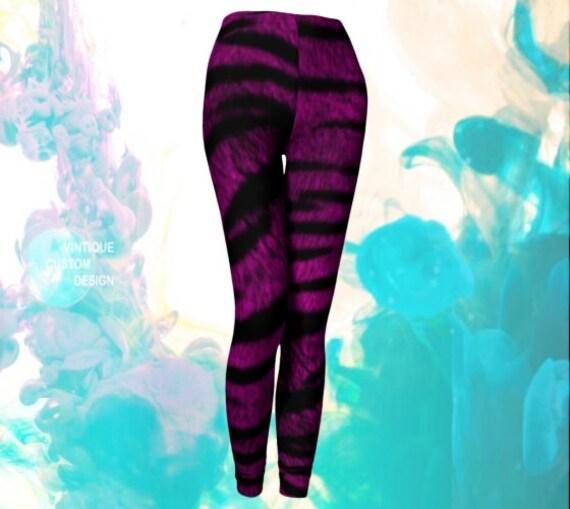 TIGER LEGGINGS For Women Purple Animal Print Leggings Yoga Leggings Yoga Pants Womens Leggings Printed Leggings Eco Fashion Clothing Womens