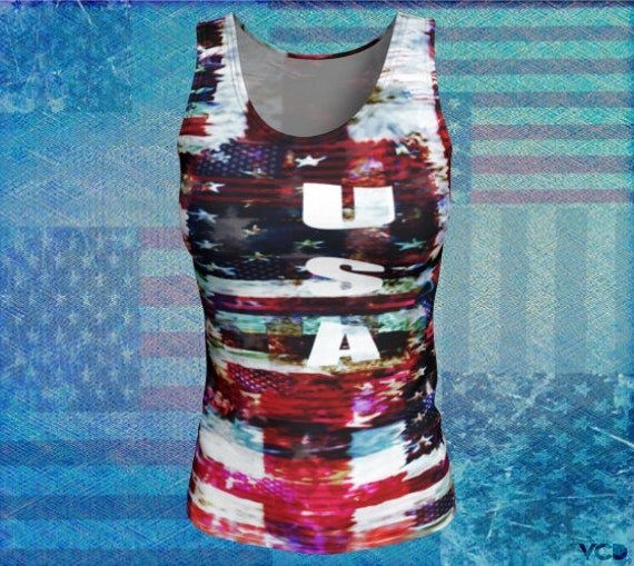 AMERICAN Flag Shirt for Women Patriotic Clothing Red White and Blue Stars & Stripes America Tank Top Women's USA TOP American Flag Tank Top