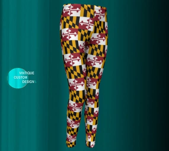 Maryland Flag LEGGINGS All Over Print MARYLAND FLAG Leggings for Kids Baby Leggings Toddler Leggings Maryland Clothing New Mom Gift for Her