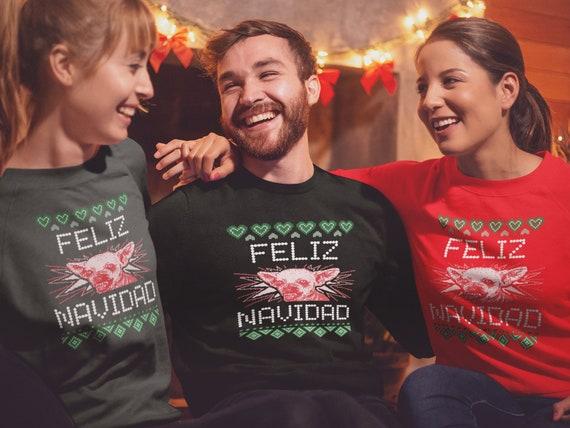 Feliz Navidad CHRISTMAS SWEATER Unisex SWEATSHIRT for Men & Women Funny Christmas Sweatshirt Ugly Christmas Sweater Funny Christmas Gift