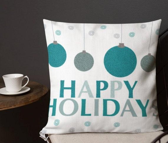 Decorative HOLIDAY Throw PILLOW Seasonal Christmas Winter Home Decor 18 x 18 Square Pillow Insert Included Holiday Festive Home Decor Pillow