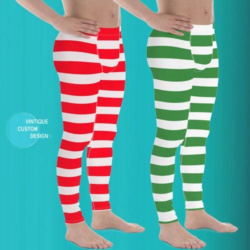 Mens Christmas Leggings Mens Yoga Pants Christmas Yoga