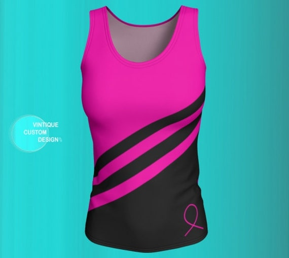 Pink Ribbon Breast Cancer Awareness and Support TANK TOP Womens Tank Top - Get Well Gift - Survivor Gift - Pink Ribbon Shirt for Women - Top