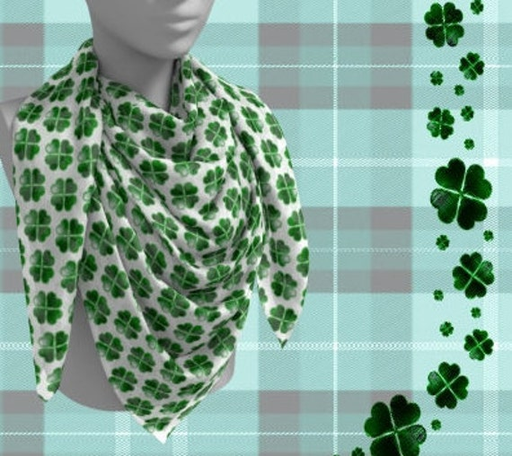 Green Plaid Shamrock Yoga Leggings Four Leaf Clover St Patrick/'s Day