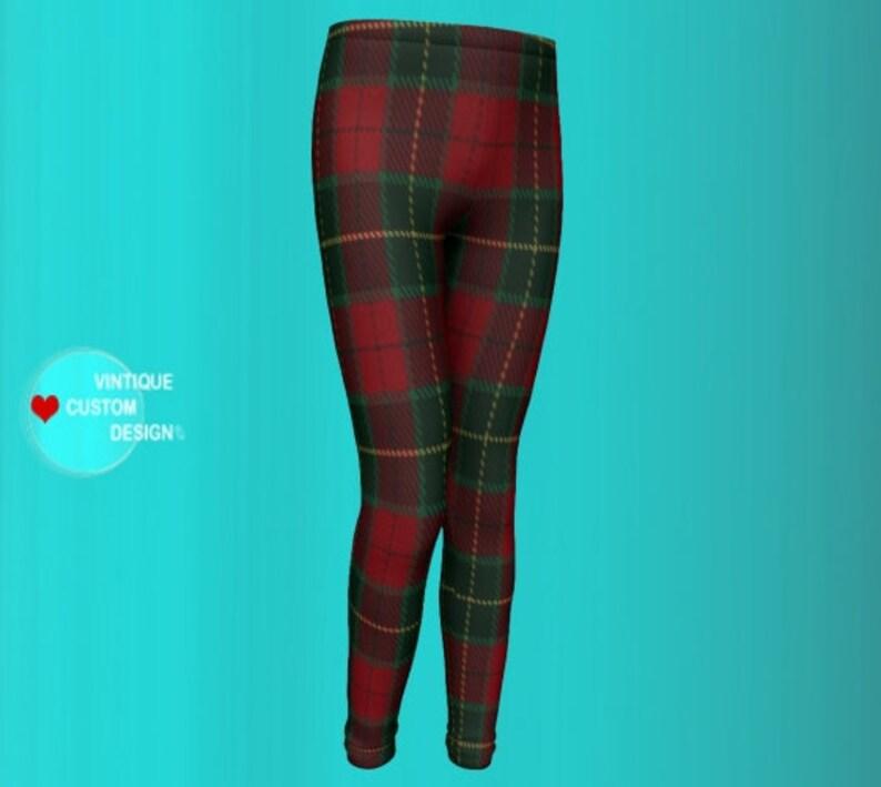 d403a480071d1 TARTAN PLAID Leggings KIDS Girls Leggings Baby Leggings | Etsy