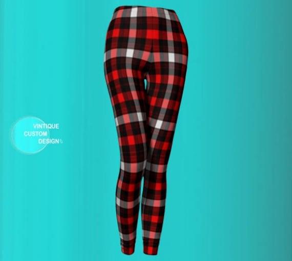 White Sexy Womens Pants Black Leggings Red Leggings Leggings Sexy LEGGINGS PLAID Leggings Womens Plaid Buffalo Check Red Plaid Yoga PRINT pwxqZ0HC