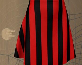 REFEREE SKIRT Prisoner Jail Skirt Black and White Striped Skirt HALLOWEEN Skirt Womens Skirt Fitted Skirt or Flare Skirt nmate Costume