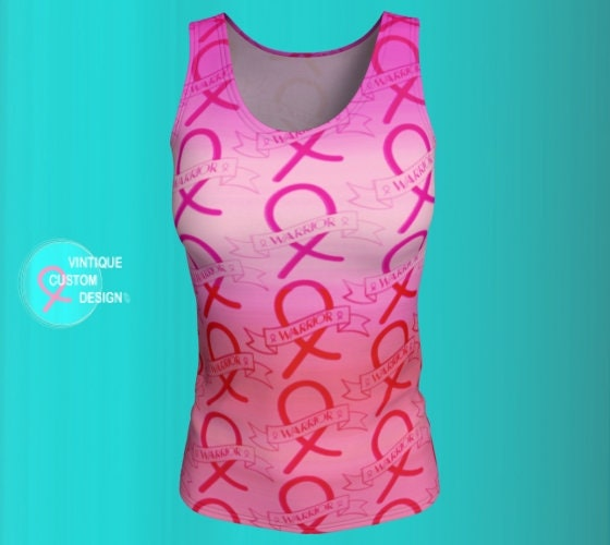 357631af5e4 Pink Ribbon BREAST CANCER Awareness Month Sleeveless Tank Top Womens ...