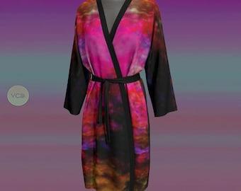 WOMENS ROBE PEIGNOIR Kimono Robe Japanese Style Kimono Robe Long Kimono Women's Robes Mothers Day Gifts Designer Luxury Robe Lingerie Robe