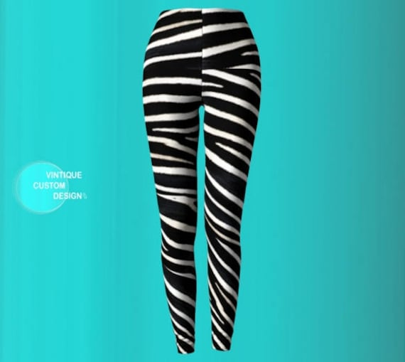 ZEBRA LEGGINGS for Women Sexy Print Leggings Sexy Womens Leggings Sexy Yoga Pants Womens Sexy Leggings Sexy Yoga Leggings Animal Print Pants