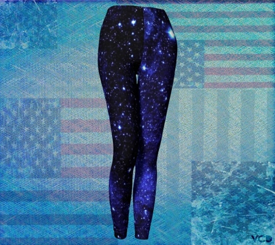 414fed3be94a3 BLUE Galaxy STAR Print LEGGINGS Womens Yoga Leggings Yoga Pants Sparkly  Leggings For Women Cosmic Leggings Space Leggings Cosmos Blackmilk