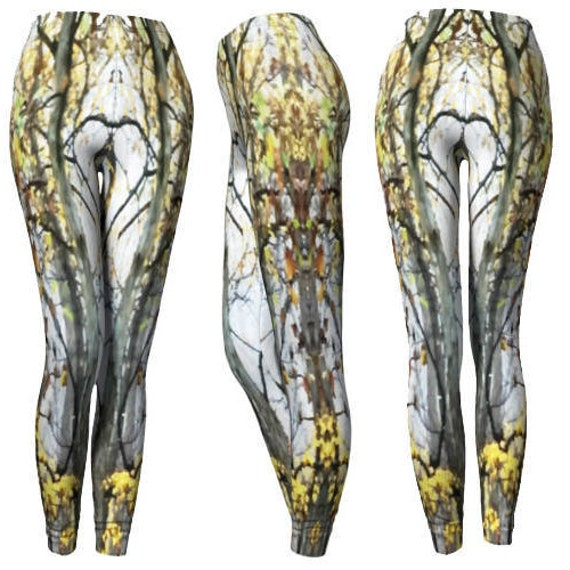 Elven Tree Forest Leggings Pixie Fairy Leggings Costume Leggings Yoga Pants Leggings Womens Tree Leggings Womens Yoga Leggings Fall Leggings
