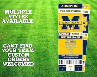 Michigan Wolverines Ticket Invitation