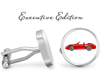sport car E Type Series 1 Roadster 3D cufflinks classic car pewter effect ref102