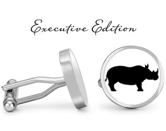 Rhinoceros cufflinks Rhino accessories Rhino jewelry Rhino cufflinks