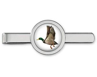 Pewter  Mallard in flight Necklace Western Cowboy Necktie Bola Bolo Tie codeb12 unisex line dancing cowboy Wild West bird of prey duck