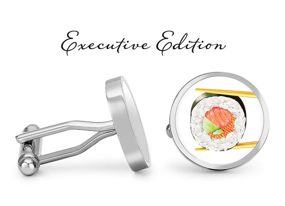 Contoured Edition Oakmont Cufflinks Sushi Cufflinks California Roll Cuff Links