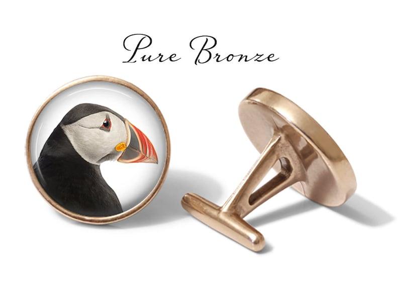 S1179 Lifetime Guarantee Puffin Cufflinks Puffins Cufflink Puffin Bird Cuff Links Pair