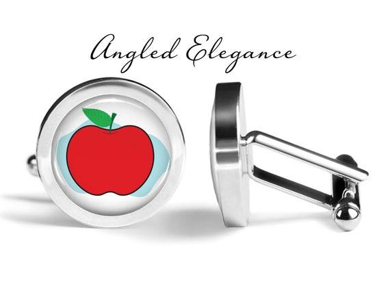 Oakmont Cufflinks Apple Cufflinks Apple Core Cuff Links Angled Edition