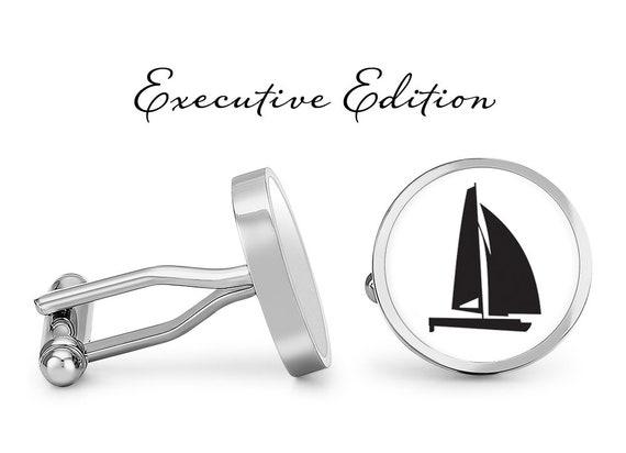 Solid Bronze Catamaran Sailboat Cufflinks