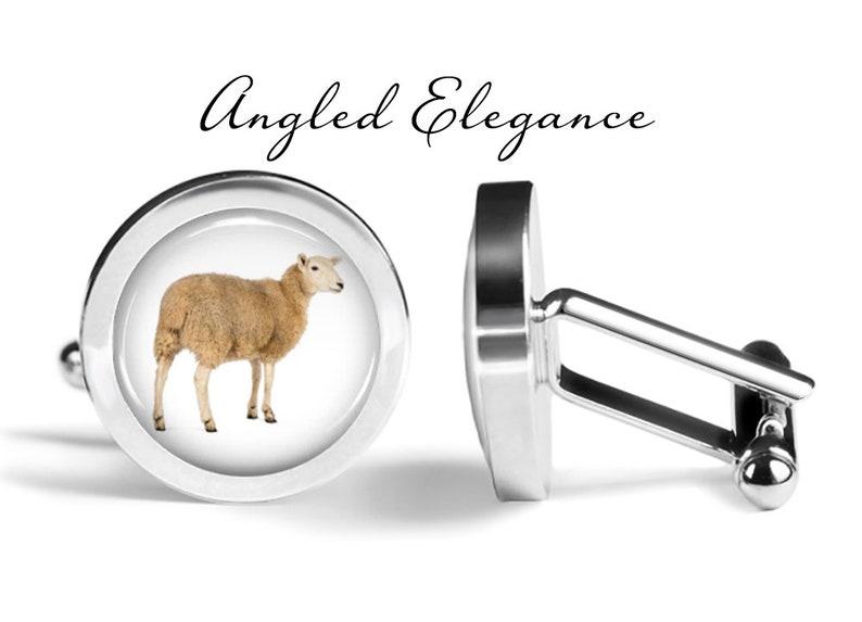 Lifetime Guarantee Sheep Cuff Links S0693 Animal Cufflinks Pair Cufflinks Sheep Wedding Gift for Him Sheep Cufflinks