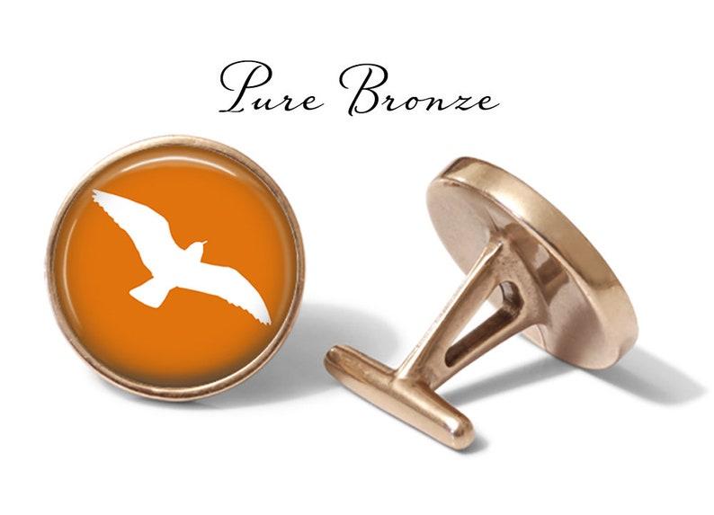 Lifetime Guarantee S0368 Pair Orange Seagull Cufflinks Sea Bird Cufflink Seagull Cuff Links