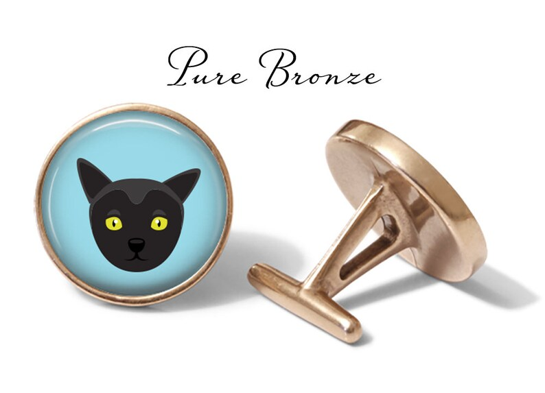 S0883 Bombay Cat Cufflinks Lifetime Guarantee Pair Bombay Cat Cufflinks Bombay Cuff Links