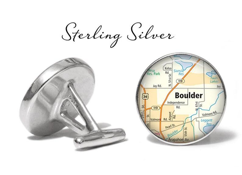 Boulder Cufflinks Colorado Cuff Links Boulder Co Map Cufflink Lifetime Guarantee S2189