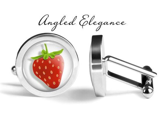 Angled Edition Oakmont Cufflinks Strawberry Cufflinks Strawberries Cuff Links