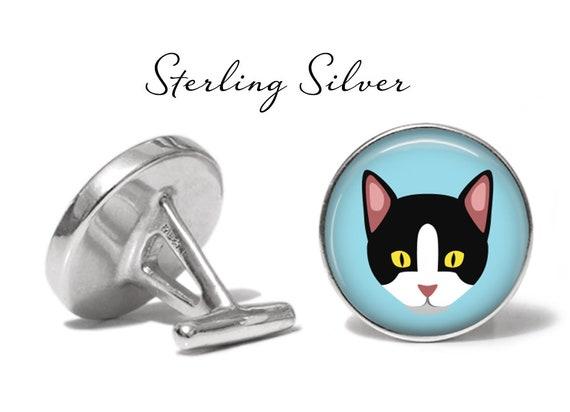 Aegean Cat Cufflinks Cat Wedding Cufflinks Lifetime Guarantee S0878 Aegean Cufflinks Cat Cuff Links Pair