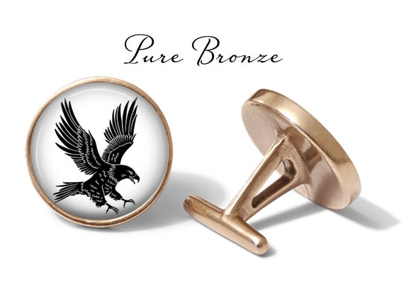 Angled Edition Oakmont Cufflinks Golden Eagle Cufflinks Eagle Cuff Links