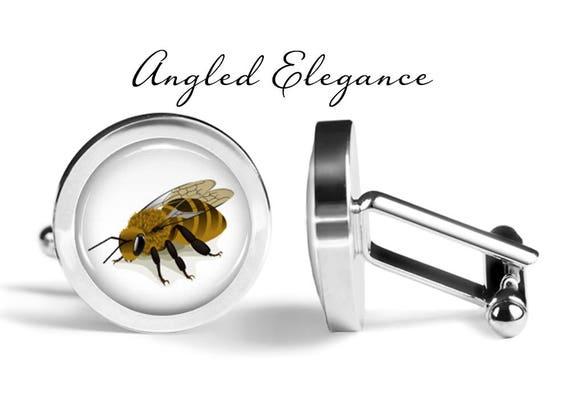 Bees Cufflink Bee Cuff Links Pair Honey Bee Cuff Links Lifetime Guarantee Honeybee Cufflinks S0049