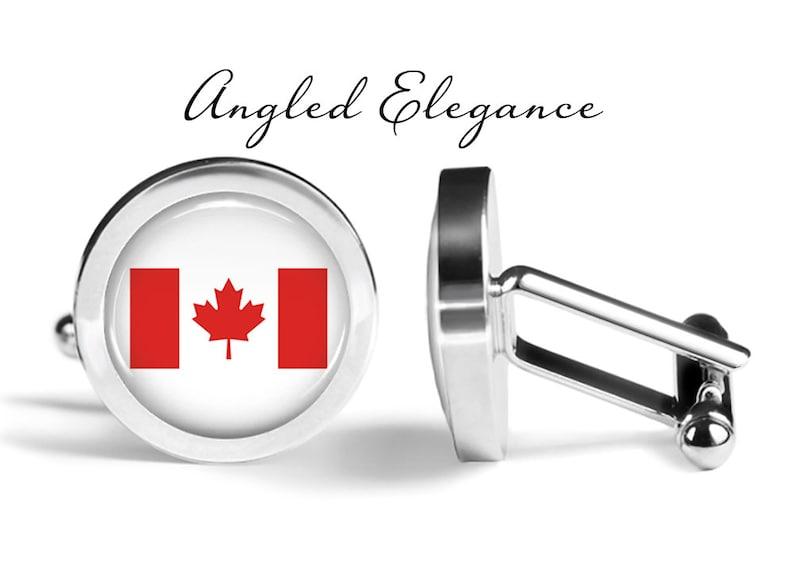 Lifetime Guarantee Pair Canada Cufflinks Canadian Flag Cufflinks S0930 Country Cufflinks