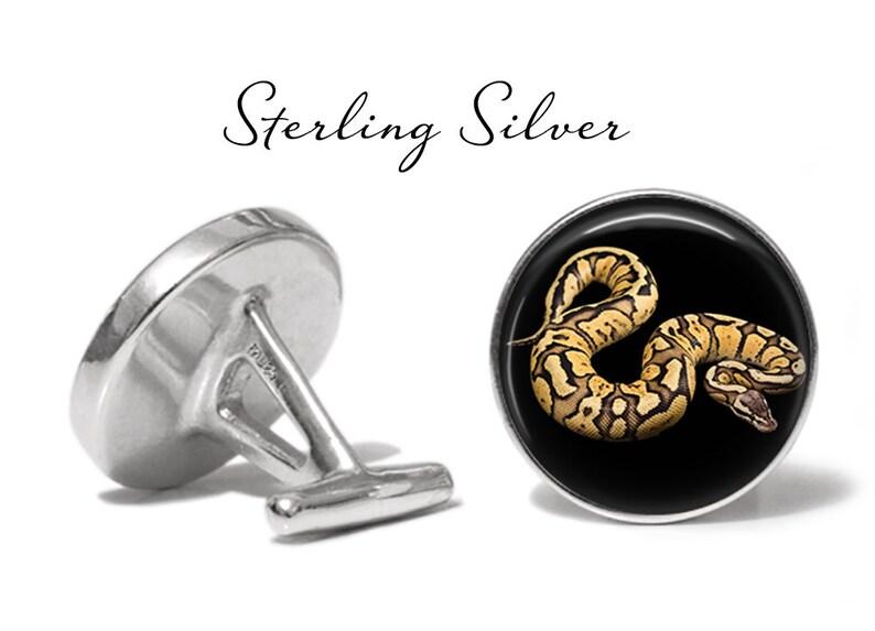 Big Snake Cufflink Pair Python Cufflinks S1146 Snake Cuff Links Lifetime Guarantee